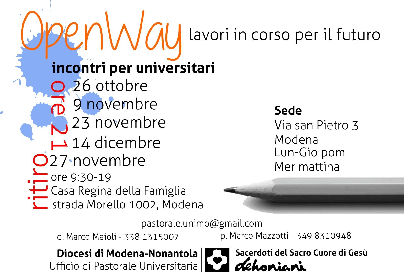 OpenWay - Incontri per giovani studenti universitari UniMo